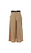 Contrast Self Tie Belted Wide Leg Pants Thumb 2
