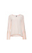 Pleated Contrast Bell Sleeve Long Sleeve Blouse Thumb 1