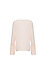Pleated Contrast Bell Sleeve Long Sleeve Blouse Thumb 2