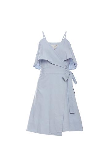 J.O.A Ruffle Front Dress Slide 1