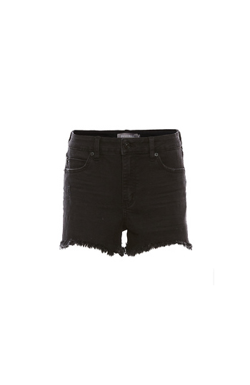 Just Black High Rise Side Slit Short Slide 1