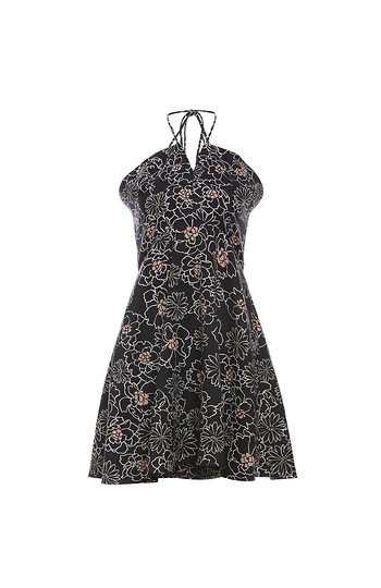 J.O.A Halter Floral Dress Slide 1