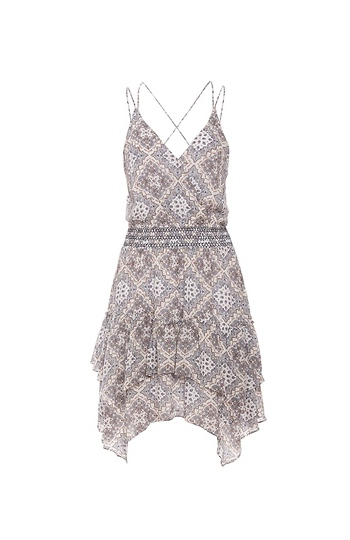 Moon River Printed Spaghetti Strap Dress Slide 1