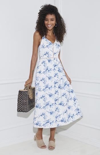 J.O.A Floral Maxi Dress Slide 1