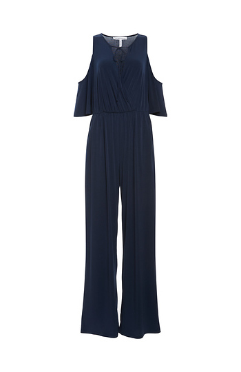 BCBGeneration Open Shoulder Surplice Jumpsuit Slide 1