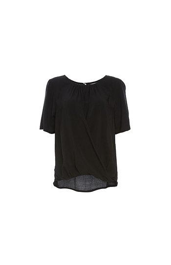 Velvet by Graham & Spencer Crisscross Short Sleeve Top Slide 1