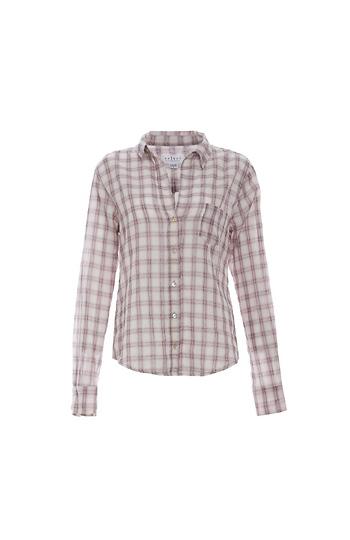 Velvet by Graham & Spencer Plaid Button Up Shirt Slide 1