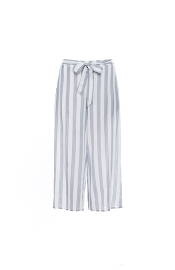 Striped Tie Waist Culotte Slide 1