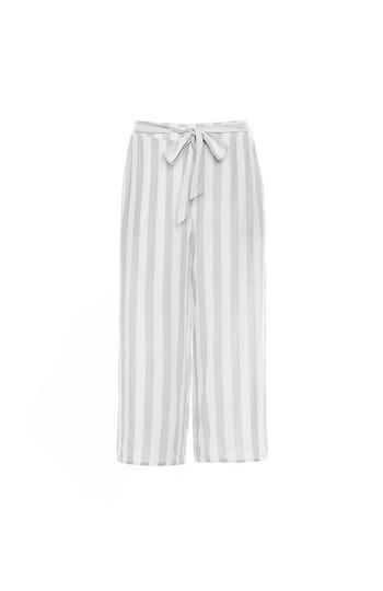 Striped Tie Waist Culotte Slide 1