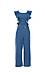 Ruffled Sleeve Denim Jumpsuit Thumb 1