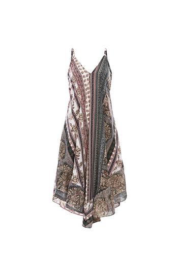RAGA Deep V Ruffle Hem Dress Slide 1
