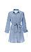 Striped Button Down Waist Tie Dress Thumb 1