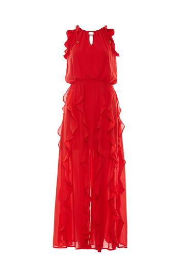 Moon River Ruffle Maxi Dress Slide 1
