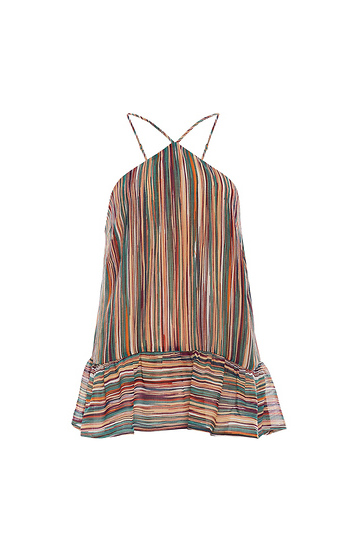 Multi Colored Stripe Halter Tank Slide 1