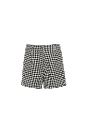 Houndstooth Highwaist Shorts Slide 1