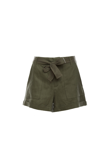 Linen Large Pocket Shorts Slide 1