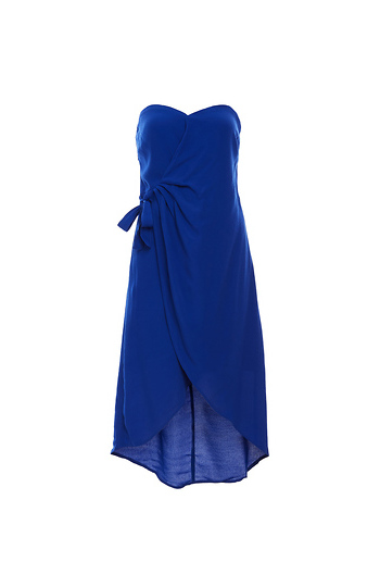 ASTR the Label Strapless Wrap Dress Slide 1