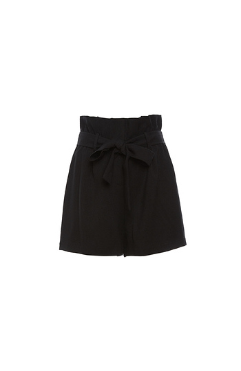 Emma Bow Tie  Waist Loose Shorts Slide 1