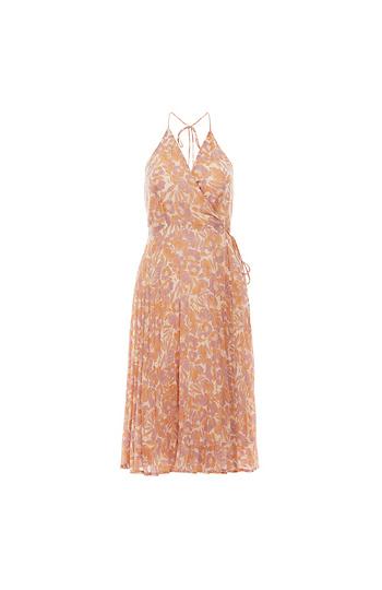 ASTR the Label Surplice Pleated Dress Slide 1