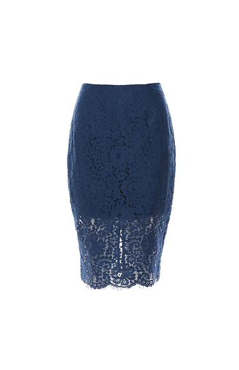 Keepsake Lace Pencil Skirt Slide 1