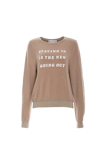 Wildfox Stay In Baggy Sweater Slide 1
