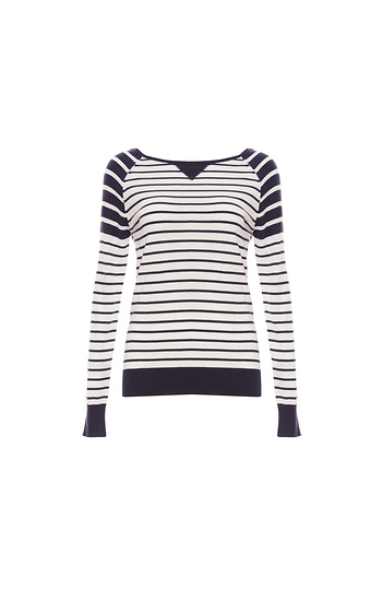 Tart Collections Contrast Striped Sweater Slide 1