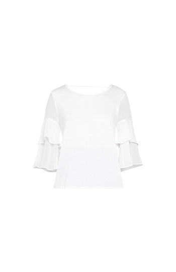 BCBGeneration Tiered Ruffle Sleeves Top Slide 1