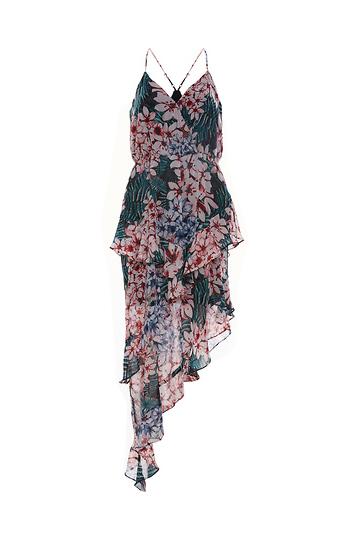BCBGeneration Asymmetric Ruffle Dress Slide 1