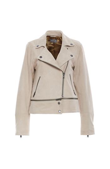 Michael Stars Suede Zip Off Jacket Slide 1