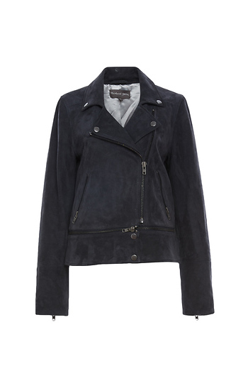 Michael Stars Suede Zip Off Jacket Slide 1
