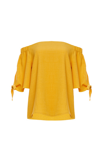 Cindy Off Shoulder Tie Sleeves Top Slide 1