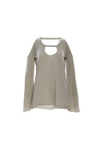 Chaser Vintage Jersey Cold Shoulder Vented Neck Top Slide 1