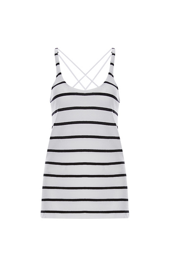 Chaser Gauzy Cotton Jersey Scoop Neck Strappy Back Tank Slide 1