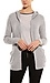 Chaser Love Knit Lace Back Hooded Open Cardigan Thumb 1