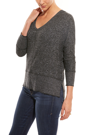 Hermosa High Low Knit Top Slide 1