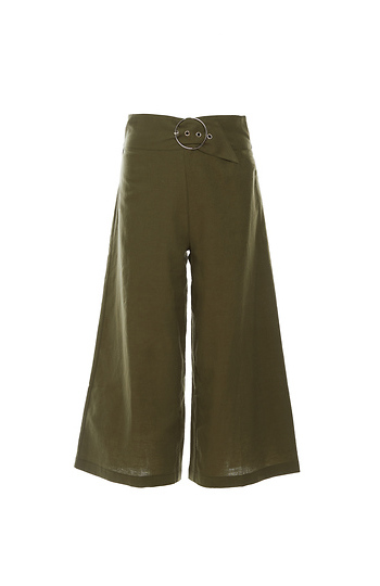 Statement Buckle Culotte Slide 1