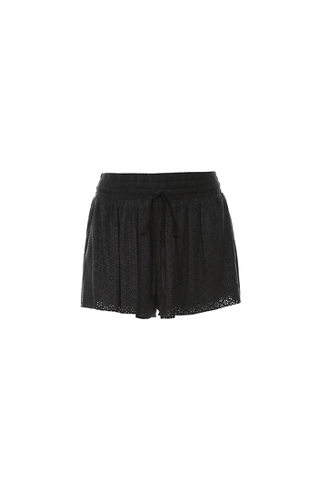 Eyelet Drawstring Shorts Slide 1