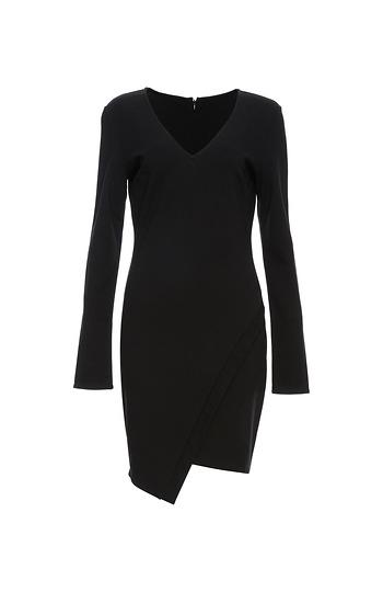 Elisa Long Sleeve V-Neck Dress Slide 1
