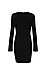 Elisa Long Sleeve V-Neck Dress Thumb 2