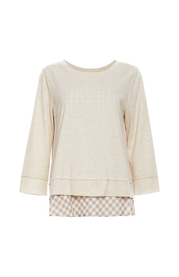 Mystree Back Bow Sweater with Undershirt Slide 1