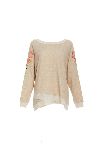 Mystree Cross Front Floral Sweater Slide 1