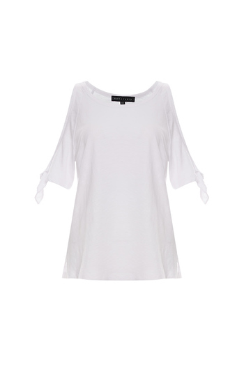 Sanctuary Tie Sleeve Top Slide 1
