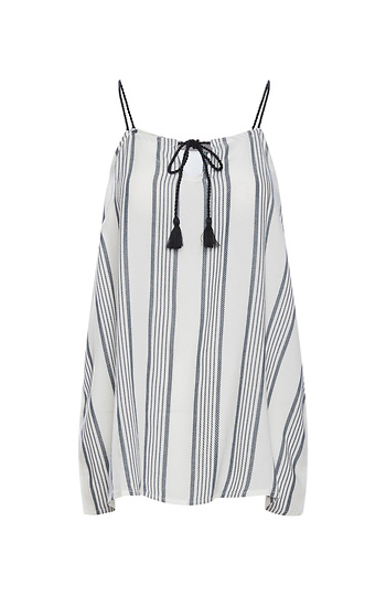 Tart Collections Sleeveless Front Tie Top Slide 1