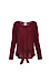 V-Neck Front Tie Sweater Thumb 1