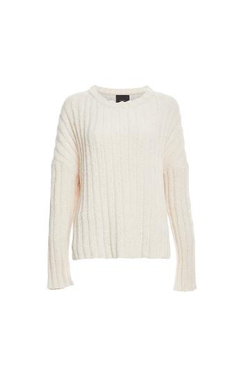 Rib Knit Chenille Sweater Slide 1