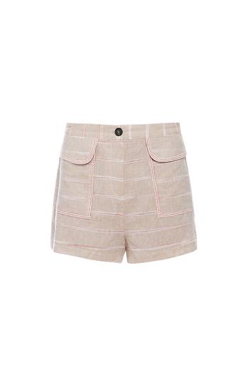 Patch Pockets Striped Shorts Slide 1