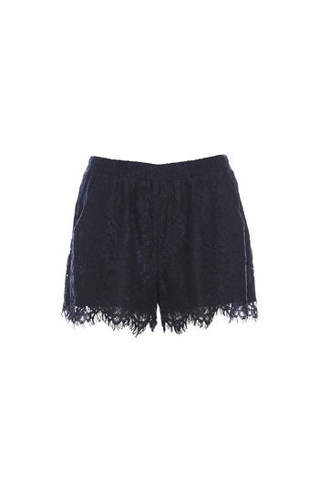 Elasticized Waist Lace Shorts Slide 1