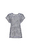 Skies Are Blue Embroidered Leaves Striped Tee Thumb 1