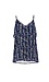 Skies Are Blue Floral Stripe Ruffle Cami w/ Tie Back Thumb 1