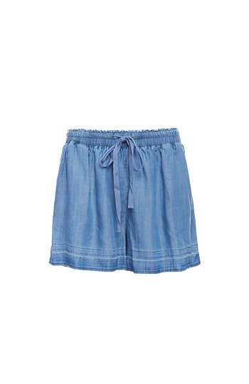 Skies Are Blue Release Hem Tencel Shorts Slide 1